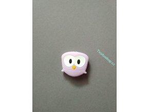 Silikonový korálek sovička malá sv. fialová