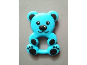 Silikonový medvěd modrý