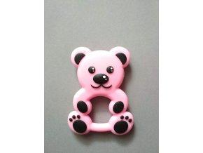 Silikonový medvěd růžový