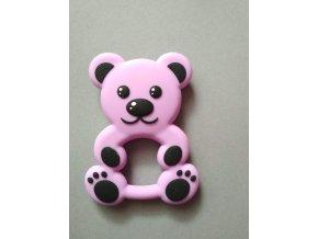 Silikonový medvěd fialový