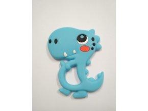 Silikonový dinosaurus modrý