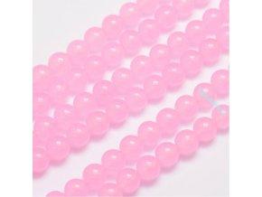 Jadeit růžový1 8 mm