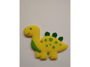 Silikonový dinosaurus jasně žlutý