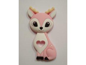 Silikonový jelen sv. růžový