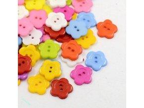 Knoflíky plastové kytičky 2