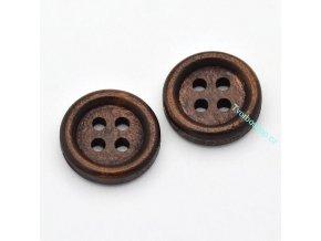 Knoflíky tmavě hnědé 14 mm