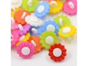 Knoflíky plastové kytičky 3