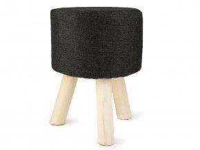 Stolička nízká černá