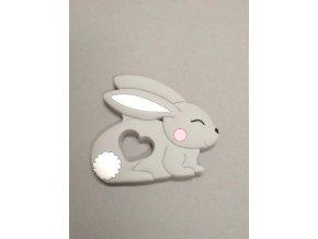 Silikonový králíček šedý