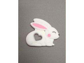 Silikonový králíček bílý