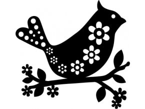 16830 sablona marabu pro fashion spray 15x15cm bird with flowers