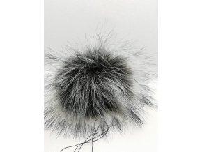 Bambule 10 cm Tmavě šedá s černými konečky