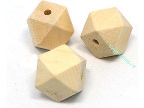 Dřevěné korálky hexagon malé