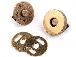 Magnetické tlačítko 18mm starobronz
