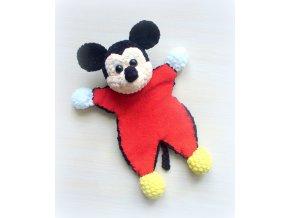 Fotonávod na háčkovaného usínáčka- Mickeymouse