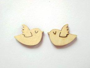 Dřevěný výřez malý- ptáček