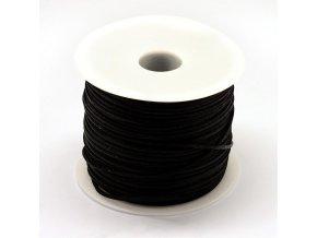 Polyesterová šňůra 1 mm černá