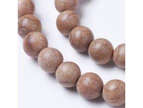 Opalované dřevěné korálky 6 mm