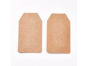 Kartičky 8x4,5cm hnědé, 50ks