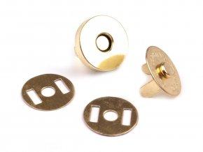 Magnetické tlačítko 18mm zlaté