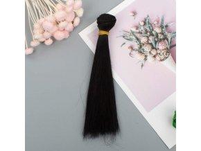 Vlasy na panenku #21- černé