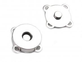 Magnetické tlačítko našívací stříbrné