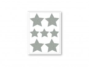 Reflexní nažehlovačky hvězdy