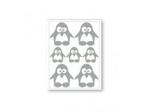Reflexní nažehlovačky tučňáci