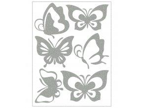 Reflexní nažehlovačky motýli