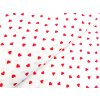 Plátno Červená srdíčka na bílé