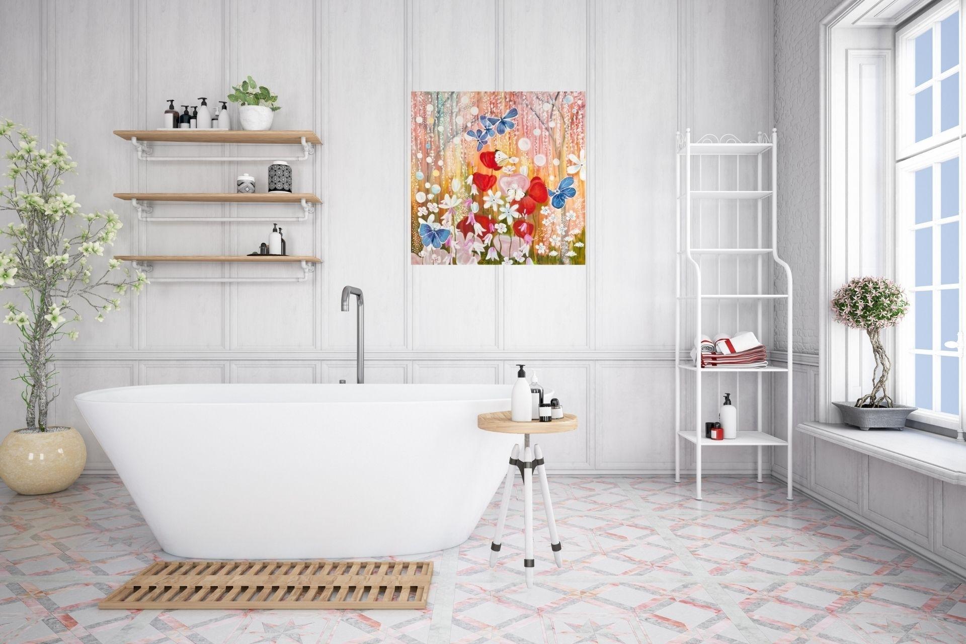 Obrazy v koupelně? Trend, který má smysl