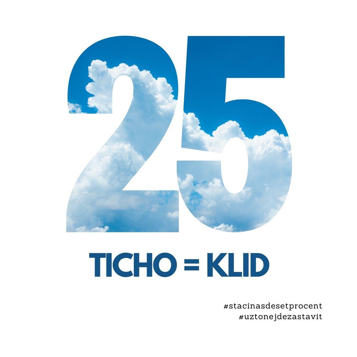 25. den: Ticho = Klid