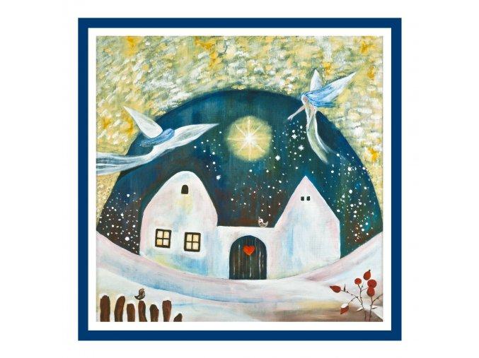 Feng shui obrazy Dum kde bydli laska Zima 1