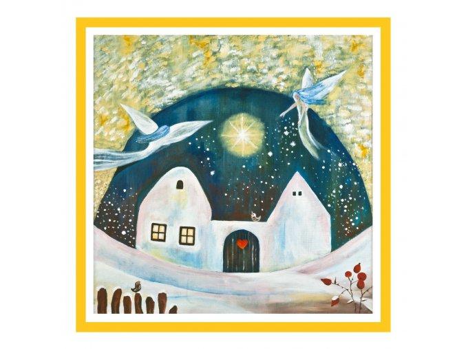 Feng shui obrazy Dum kde bydli laska Zima 2