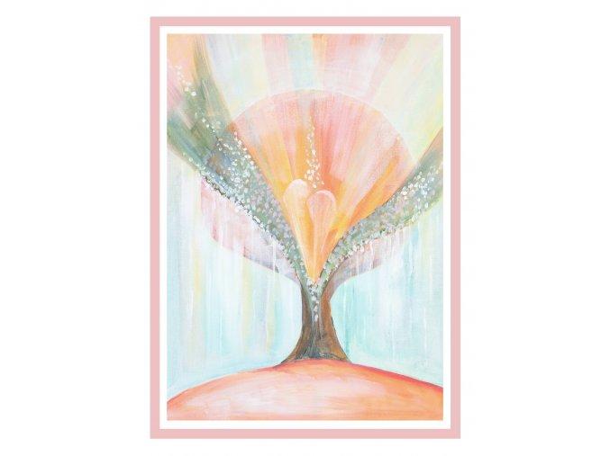 Feng shui obrazy Duse stromu 1