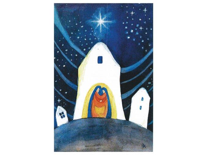 vanoce XII svata rodina feng shui pohlednice