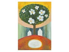 Stromy jsou naši andělé - obrázek malý formát - BÍLÝ rámeček 21x29,7cm