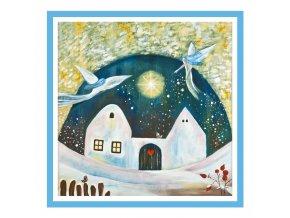Feng shui obrazy Dum kde bydli laska Zima 3