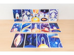 Tvorimesrdcem fengshui obrazy sada 14 vanocnich pohlednic 01
