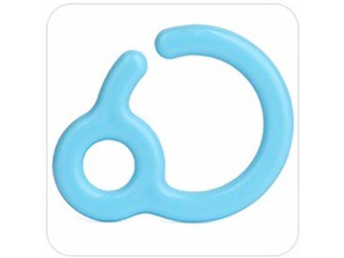 Háček/závěs na kousátka 7cm (1ks) - blue
