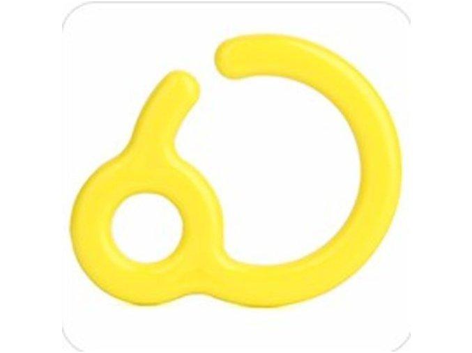 Háček/závěs na kousátka 7cm (1ks) - yellow