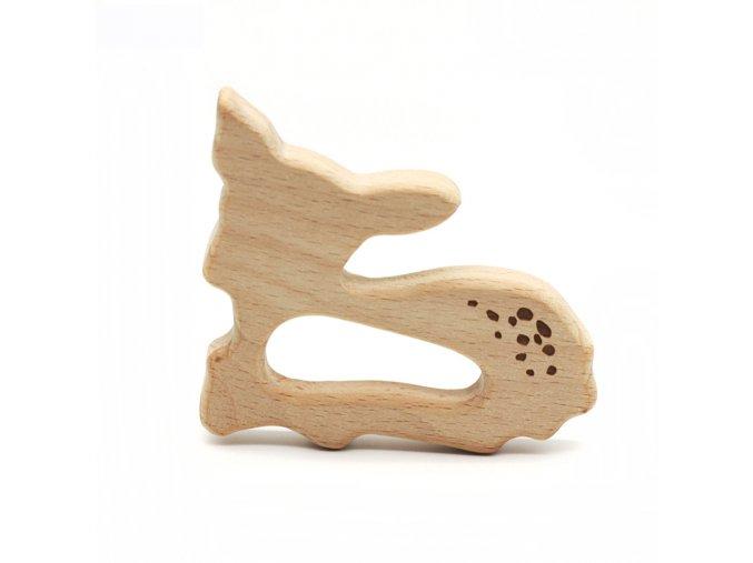 Dřevěné kousátko 80mm (1ks) - koloušek grav.