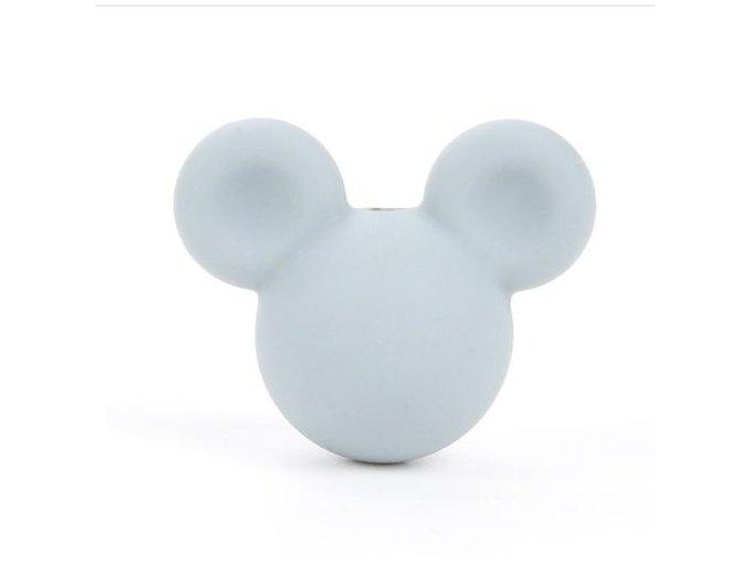 Korálky MickeyMouse 2cm - (1ks) - light grey