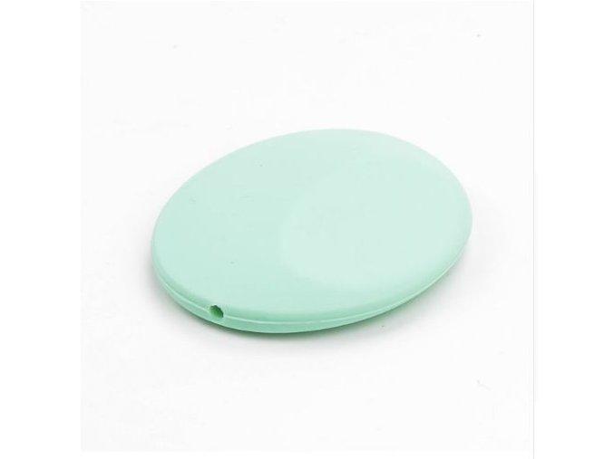 Silikonová placička 50mm (1ks) - mint