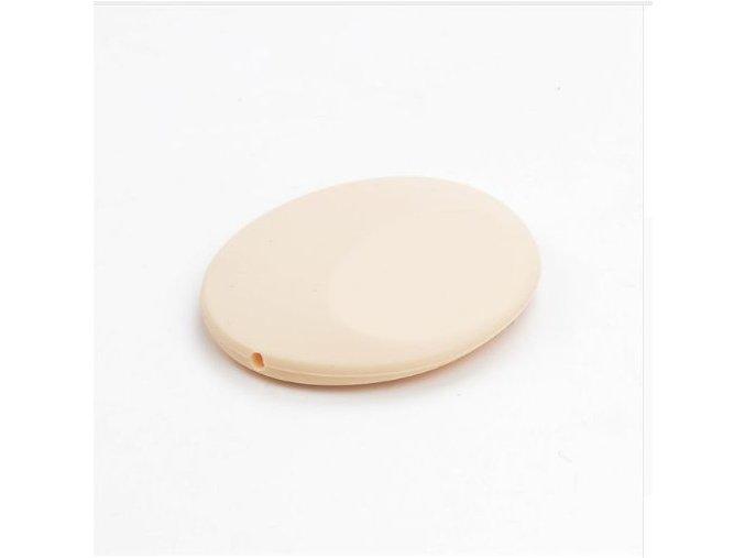 Silikonová placička 50mm (1ks) - krémová