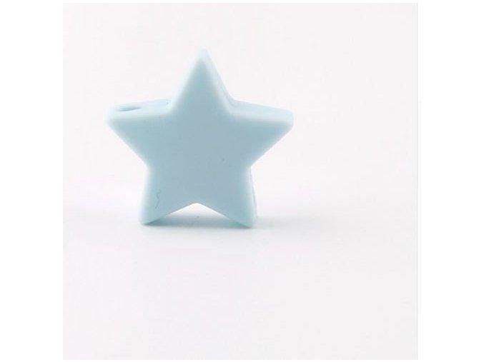 Silikonové hvězdičky 25mm (1ks) - candy blue