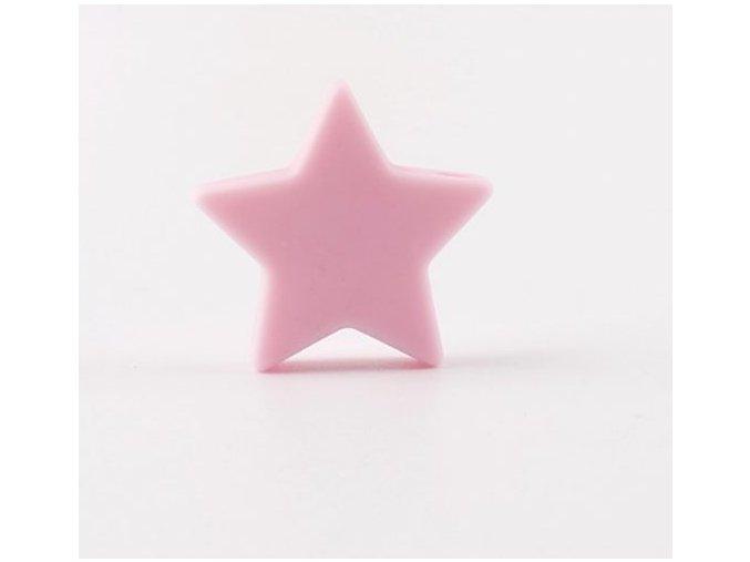 Silikonové hvězdičky 25mm (1ks) - pink