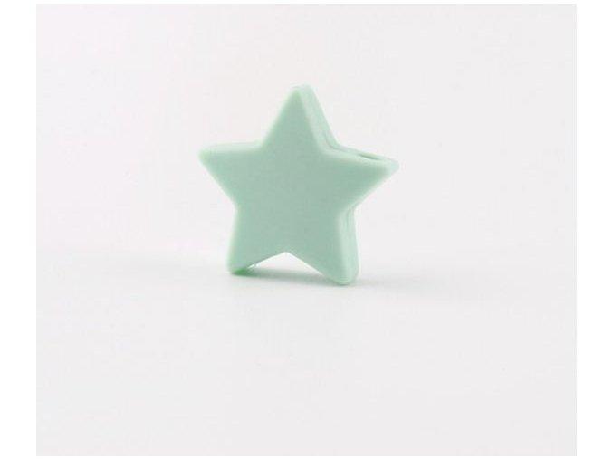 Silikonové hvězdičky 25mm (1ks) - mint