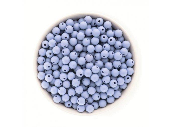 Silikonové korálky 10mm (10ks) - powder blue