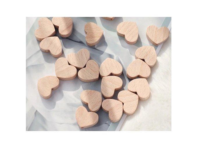 Dřevěné korálky 16mm (2ks) - LITTLE SISTER